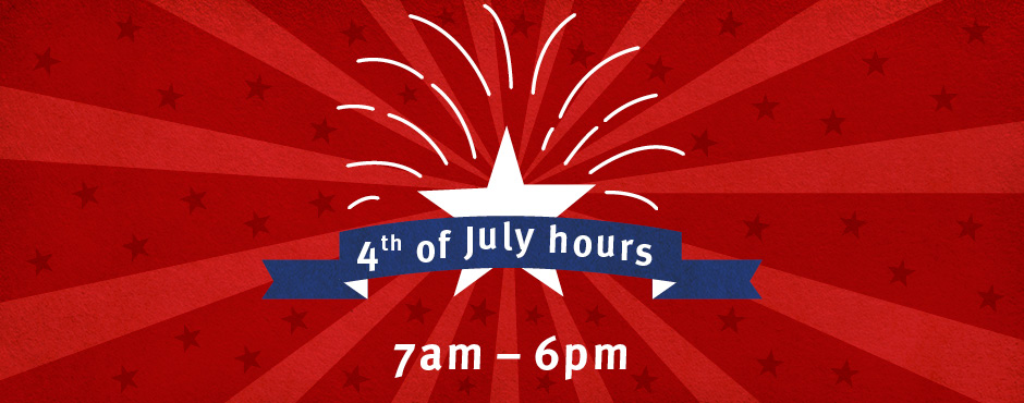 Special July 4th hours