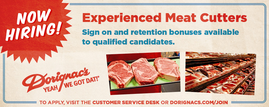 Now Hiring - Meat Cutters